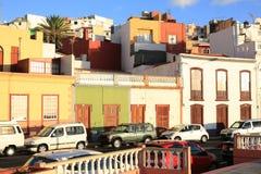 Historyczny Tazacorte na losu angeles Palmy wyspie, Hiszpania obraz royalty free