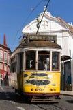 Historyczny tramwaj 28, Lisbon Obrazy Royalty Free