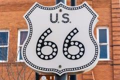 Historyczny trasy 66 znak obraz royalty free
