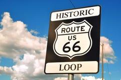 Historyczny trasy 66 znak Zdjęcia Stock