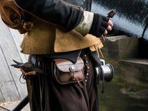 Historyczny ubiór armatnik obraz stock