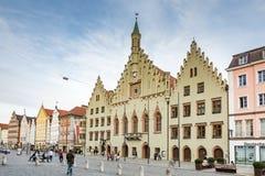 Historyczny urząd miasta Landshut Zdjęcie Royalty Free