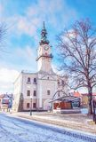 Historyczny urząd miasta w głównym placu, Kezmarok, Sistani, piękno fi Fotografia Royalty Free