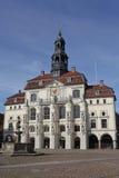 Historyczny urząd miasta Lueneburg Zdjęcie Royalty Free