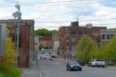 Historyczny w centrum Bangor, Maine Fotografia Stock