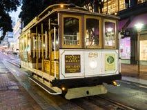 Historyczny wagon kolei linowej, Hyde linia na Sierpniowy 17th, 2017 - San Fransisco, Kalifornia, CA Fotografia Royalty Free
