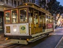 Historyczny wagon kolei linowej, Hyde linia na Sierpniowy 17th, 2017 - San Fransisco, Kalifornia, CA Fotografia Stock