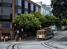 Historyczny wagon kolei linowej, Hyde linia na Sierpniowy 17th, 2017 - San Fransisco, Kalifornia, CA Zdjęcie Stock