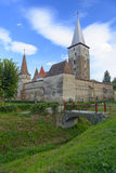Historyczny warowny kościół w Mosna obrazy royalty free