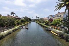 Historyczny Wenecja kanałowy sąsiedztwo w Los Angeles Kalifornia Obraz Stock