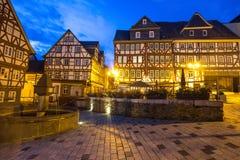 Historyczny wetzlar Germany w wieczór Obrazy Royalty Free
