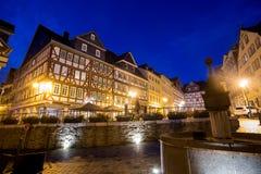 Historyczny wetzlar Germany w wieczór Fotografia Royalty Free