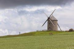 Historyczny wiatraczek Moidrey, Normandy zdjęcia stock