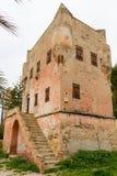 Historyczny wierza Markellos w mieście Aegina, wyspa Aeg obrazy stock