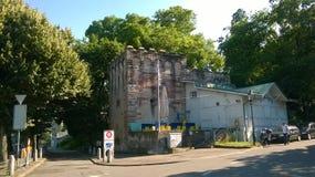 Historyczny wierza Thomasturm w Basle, Szwajcaria Zdjęcie Stock