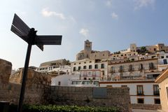 Historyczny wioska krajobraz Ibiza miasto obrazy stock