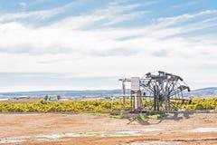 Historyczny wodny koło używać irygować winniców w Kakamas Fotografia Royalty Free