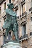 Historyczny zabytek dramatopisarz CARLO GOLDONI w piazza obraz royalty free