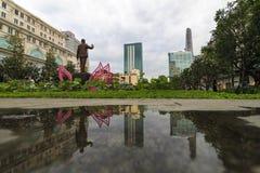 HISTORYCZNY Zaludnia ` Komitetowego budynek w Ho Chi Minh kwadracie SAIGON WIETNAM, JAN - 23, 2017 - Obrazy Stock