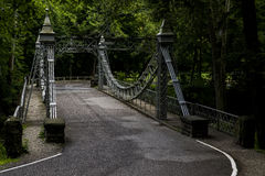 Historyczny zawieszenie most - Młyński zatoczka park, Youngstown, Ohio obrazy stock