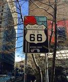 Histouric början av Route 66 i Förenta staterna Royaltyfria Foton