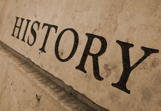 História cinzelada na pedra Fotos de Stock