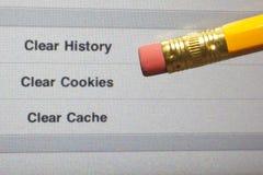 História da Web do Erase Fotografia de Stock Royalty Free