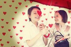 História de amor Foto de Stock