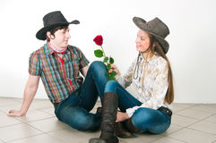 História de amor do cowboy Imagem de Stock