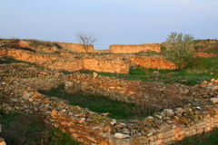 Histria - greek fortress ruins Royalty Free Stock Photos