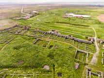 Histria old fortress in Dobrogea Romania near the Black Sea aer imagen de archivo libre de regalías