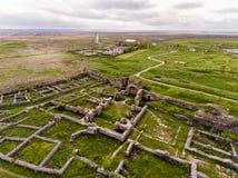 Histria old fortress in Dobrogea Romania near the Black Sea aer fotografía de archivo
