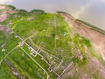 Histria old fortress in Dobrogea Romania near the Black Sea aer imágenes de archivo libres de regalías