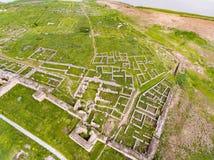 Histria old fortress in Dobrogea Romania near the Black Sea aer foto de archivo libre de regalías