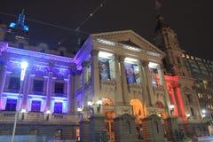 Histrical arkitektur Australien för Melbourne stadsstadshus Arkivbild