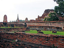 Histrical Park Ayutthaya Stockfotos