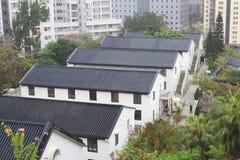 Histroic architektury struktura przy Hong kong obrazy royalty free