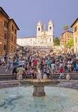Hiszpańscy kroki, Rzym, Włochy. Zdjęcie Stock