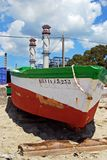 Hiszpańska łódź rybacka, Puente Mayorga obrazy stock