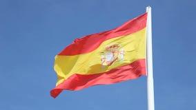 Hiszpańska flaga państowowa Fotografia Stock