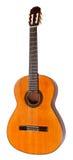 Hiszpańska gitara akustyczna odizolowywająca na bielu zdjęcia stock