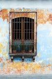 Hiszpańska Kolonialna architektura, okno, Gwatemala obrazy stock