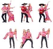 Hiszpańska para bawić się gitarę i tana Zdjęcia Royalty Free
