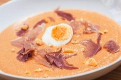 Hiszpańska salmorejo gazpacho polewka zdjęcie stock