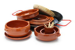 Hiszpańska tableware rozmaitość Fotografia Royalty Free