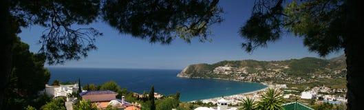 Hiszpański Śródziemnomorski wybrzeże obraz royalty free