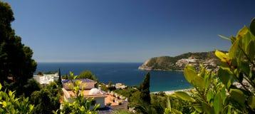 Hiszpański Śródziemnomorski wybrzeże zdjęcia stock