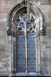 Hiszpański średniowieczny okno w Barcelona zdjęcia royalty free