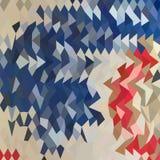 Hiszpański Błękitny Abstrakcjonistyczny Niski wieloboka tło Zdjęcie Royalty Free
