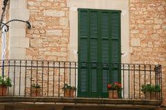 hiszpański balkon. Zdjęcie Stock